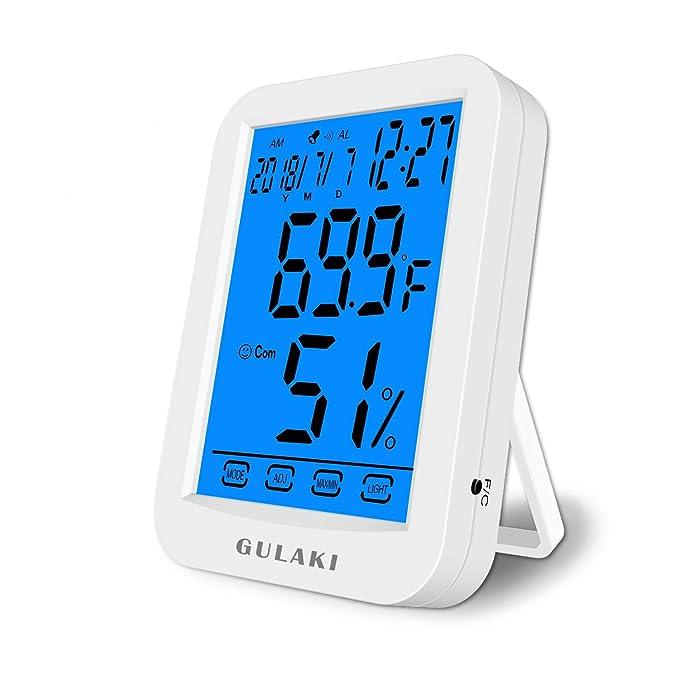 10 opinioni per GULAKI Termometro da umidità per interno,Termoigrometro digitale grande luminoso