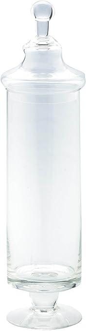 7.5 by 16 Diamond Star Glass Clear Apothecary Jar