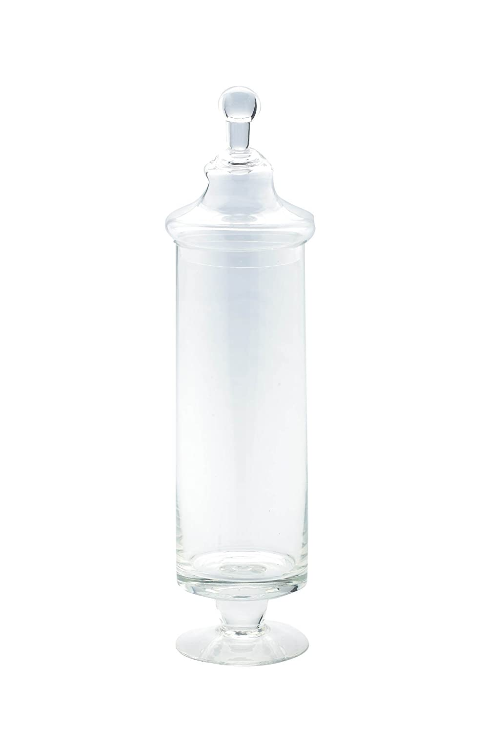 Diamond Star Glass Clear Apothecary Jar, 4 by 17 4 by 17 83727