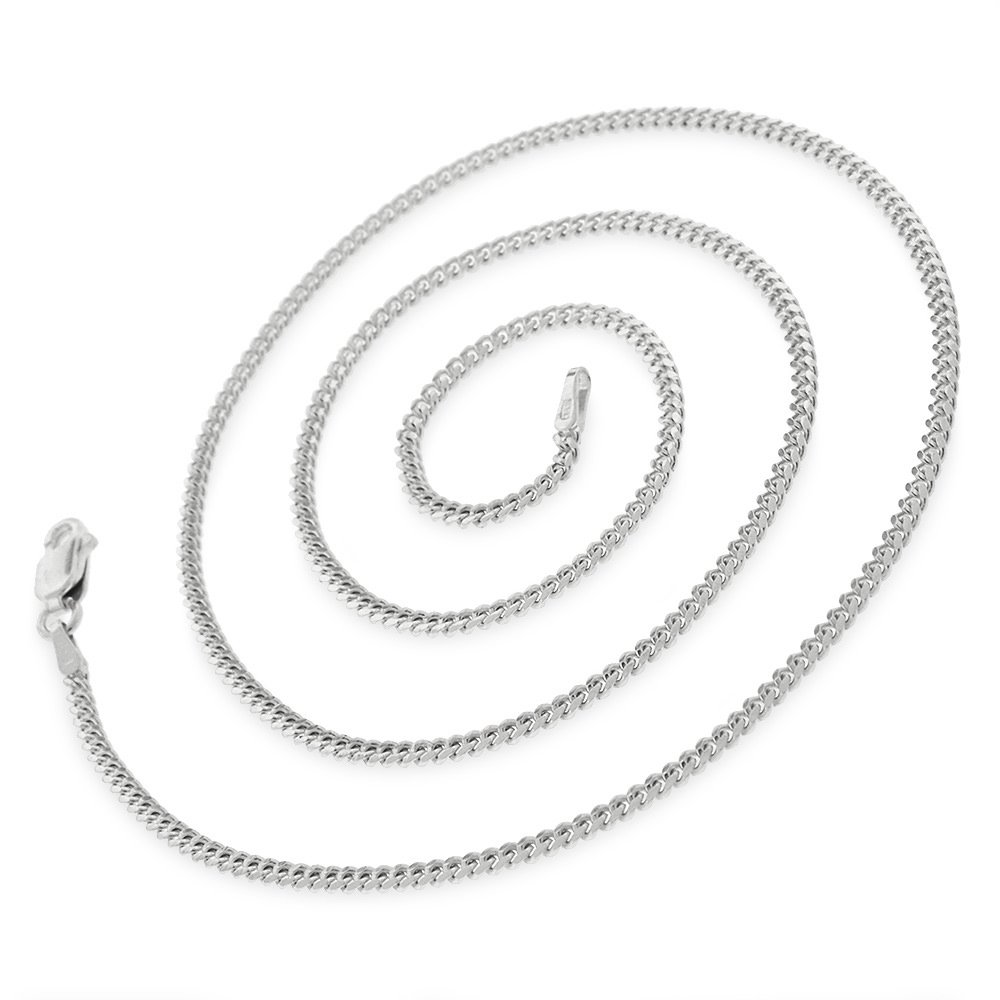 14k White Gold 1.5mm Solid Miami Cuban Curb Link Thick Necklace Chain 16'' - 30'' (24) by In Style Designz (Image #2)