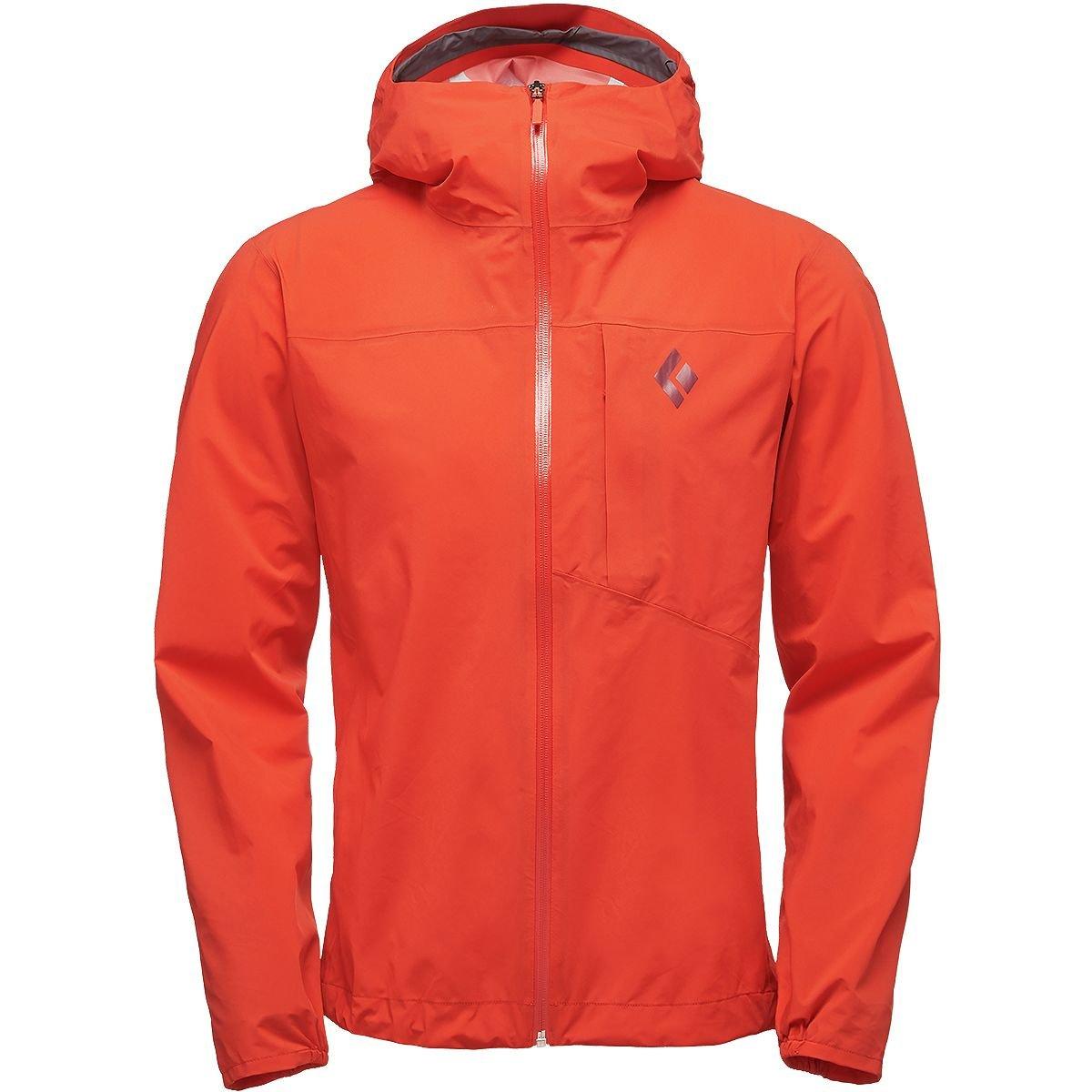 ブラックダイヤモンドFinelineストレッチRain Shell Jacket – Men 's B0797JVSWF Large|Picante Picante Large