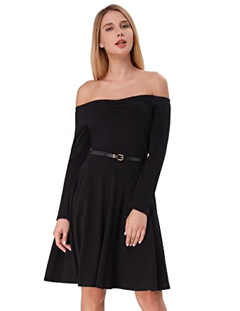 669857c6bf0b Kate Kasin Womens Autumn Long Sleeve High Stretchy Party Dresses Black