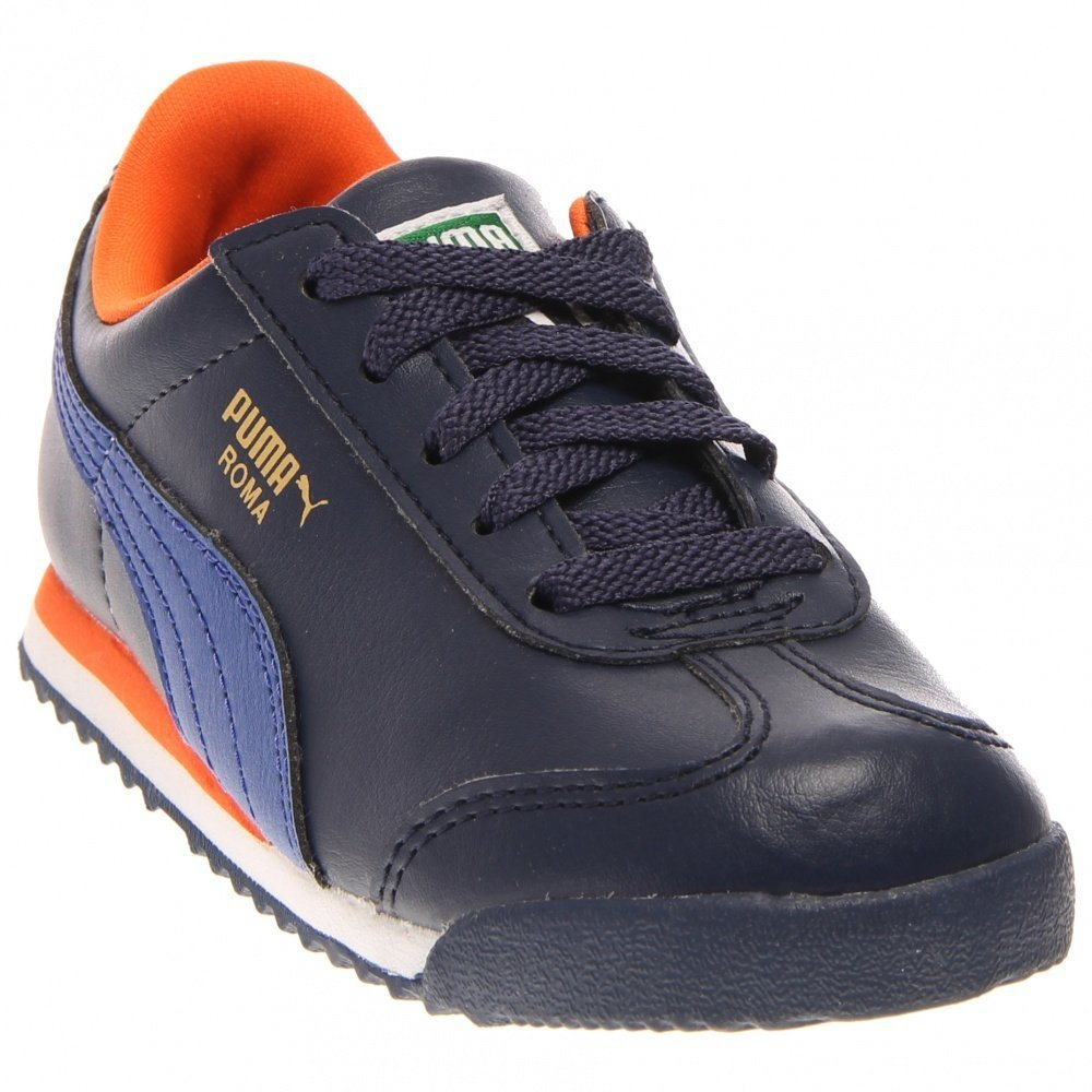 PUMA Roma Basic Kids Sneaker (Toddler/Little Kid/Big Kid), Peacoat/Surf The Web, 5 M US Toddler