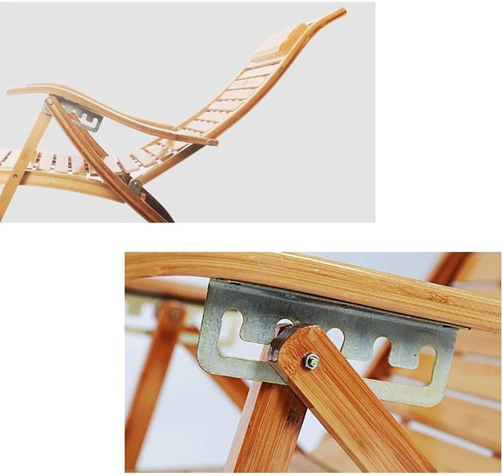 WXF Rocking Chair Bamboo Lounge Chair, Lazy Balcony Adult Napping Easy Chair Old Man Leisure Fold Lunch Break Chair (Color : B) B