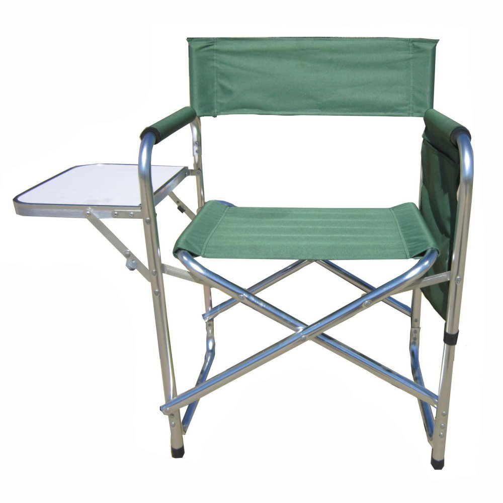 MAOS Deluxe 18 in. Director Chair with Side Table - Set of 2 by Mid-America Outdoor Supply