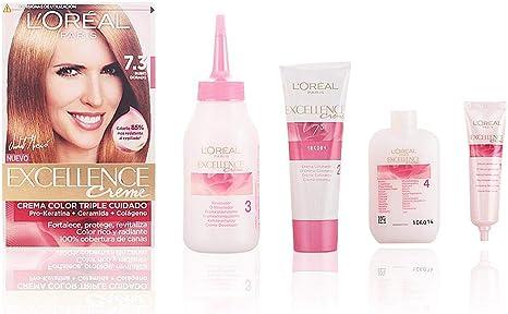 LOréal Coloración Excellence Crème Triple Protección 7.3 Rubio Dorado - 200 gr