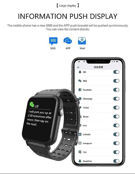 RanGuo Reloj Inteligente para Hombres Mujeres y niños, Deportes al Aire Libre Impermeable IP67 Smart Watch para Sistema Android y iOS (Correa de Acero, ...