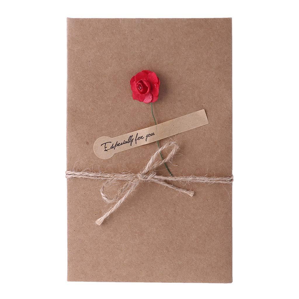 Amazon.com : Doiber Retro Kraft Paper Artificial Flower ...