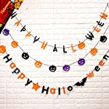TOPULORS Halloween Decorations Kid-Friendly Trick or Treat Ghost Halloween Hanging Sign Door Décor Windows Decor Wall Hanging Decoration for Indoor Outdoor Halloween Party-Charming Decorative 3Pack