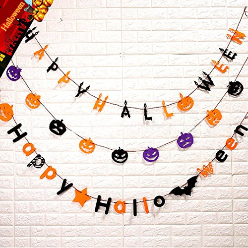 Indoor Halloween Decorations - Halloween Decorations Kid-Friendly Trick or Treat Ghost Halloween Hanging Sign Door Décor Windows Decor Wall Hanging Decoration for Indoor Outdoor Halloween Party-Charming Decorative 3Pack