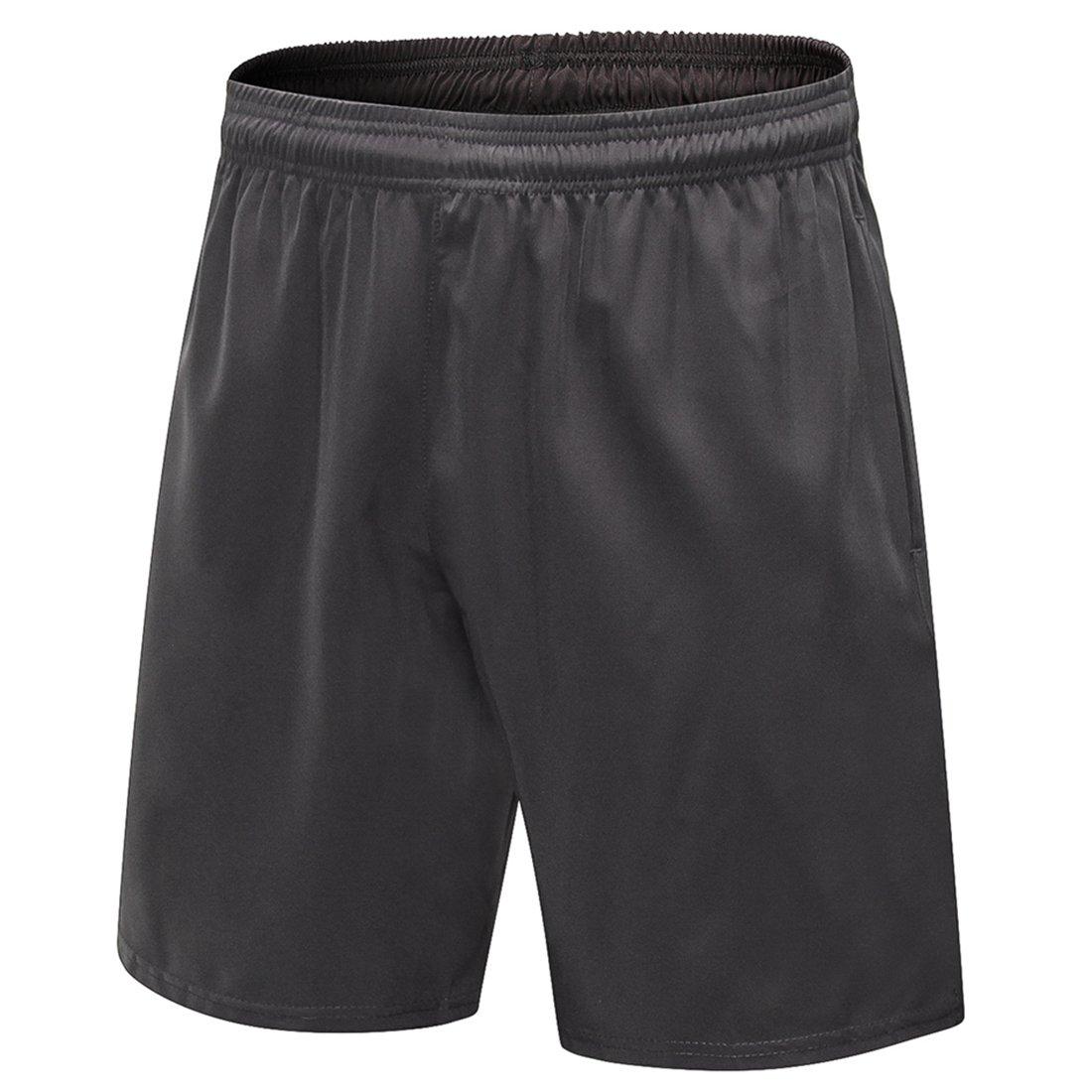 sevenwellメンズアスレチックRunnigショーツジムワークアウトFitness Shorts With内部描画文字列 B07C87MRW1  Gray. XL=US L