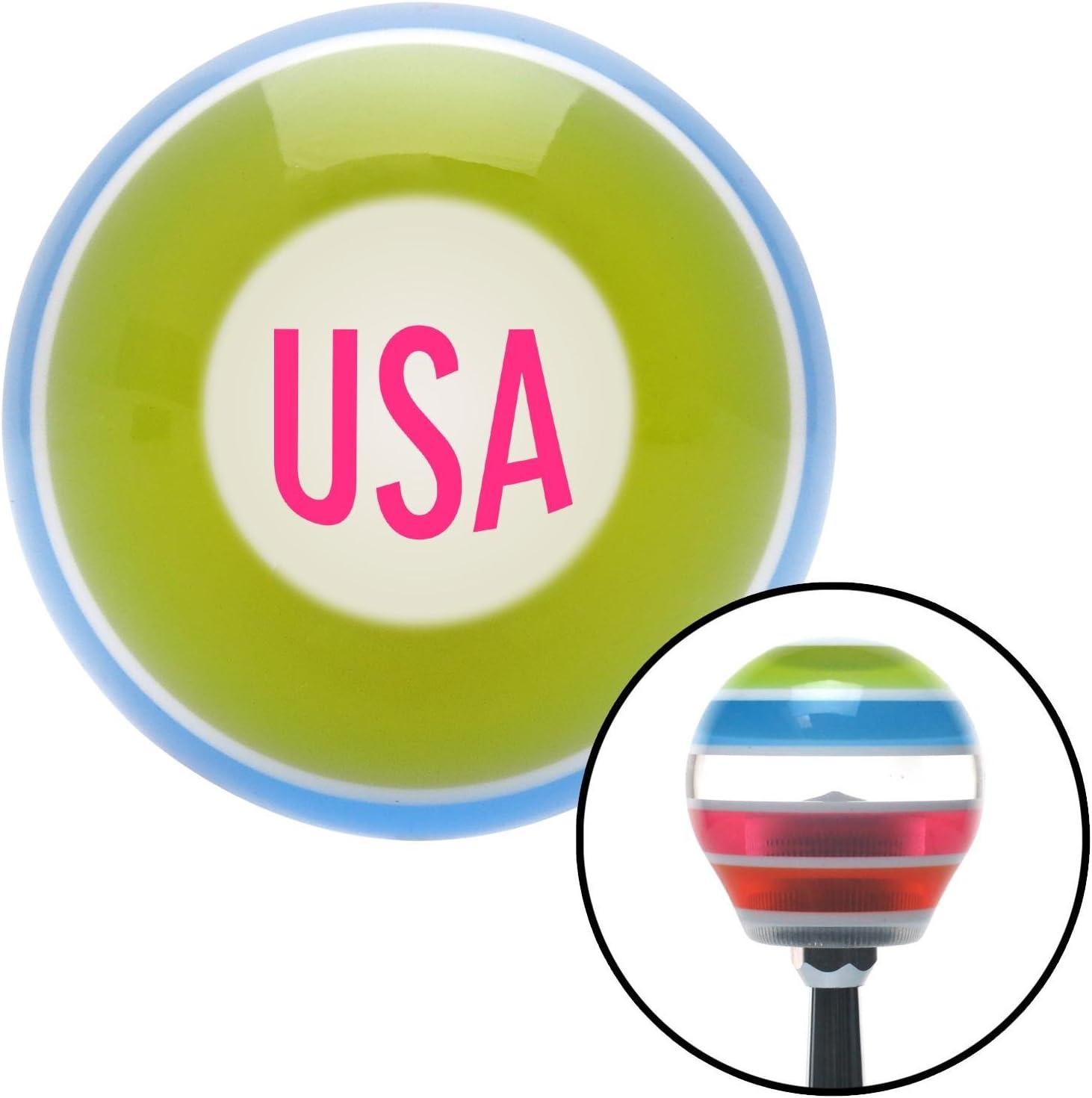 American Shifter 273525 Pink USA Stripe Shift Knob with M16 x 1.5 Insert