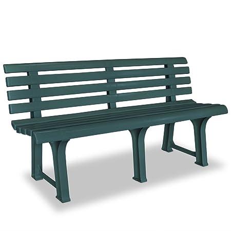 Panchine Da Giardino In Pvc.Vidaxl Panchina Da Giardino Stile Classico In Plastica Verde Panca