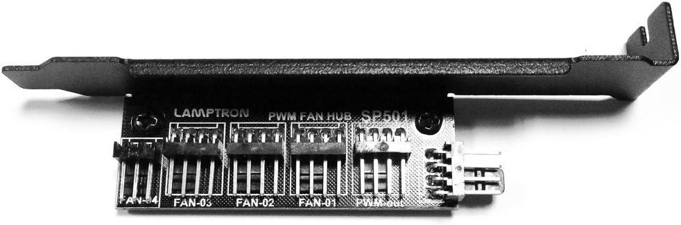 Lamptron Hub Für Lüfter Mit 4 Steckern Pwm Slot Pci Elektronik
