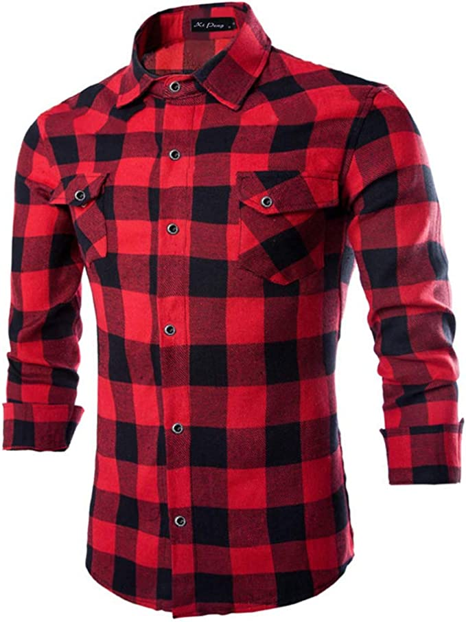 ONLY/&SONS Herren Hemd Lange Ärmel Winter Hemd 100/% Baumwolle Gr XL