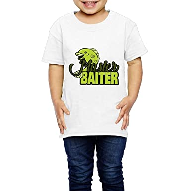 a3dc03730 Amazon.com  Master Baiter Crew Neck Short Sleeve Tee Shirt 2-6 Toddler  Kids  Clothing