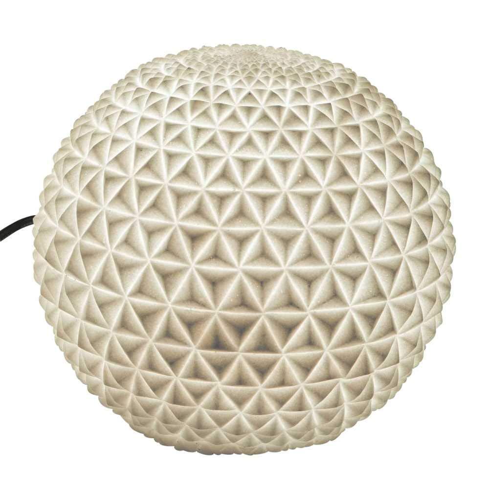 Creaflor Home wetterfeste Outdoor Gartenlampe, Leuchte Diamond D. 28cm weiß Formano