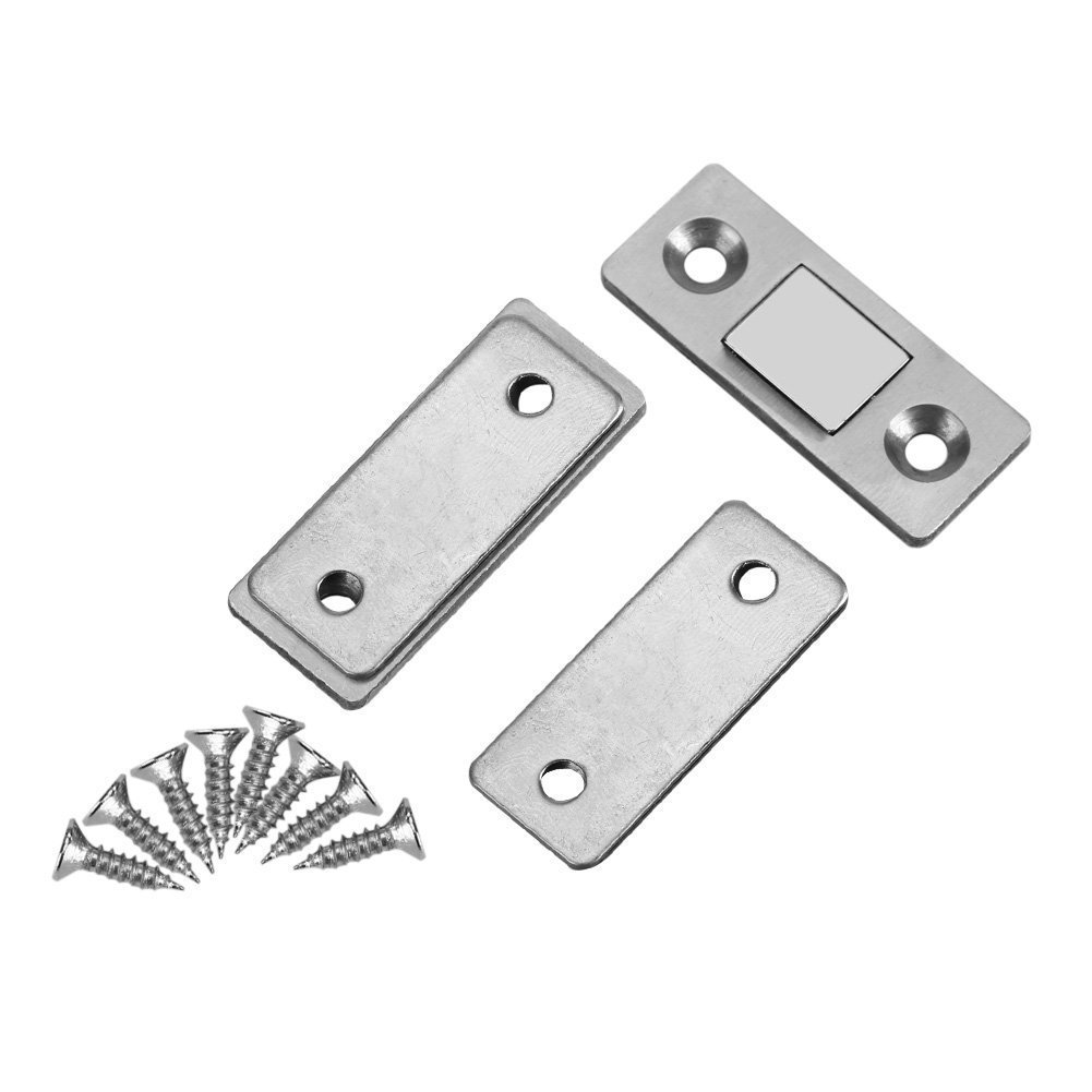 Door Catch Latch Ultra Thin Strong Magnetic Catch with Screws for Home Furniture Cabinet Cupboard - 2pcs
