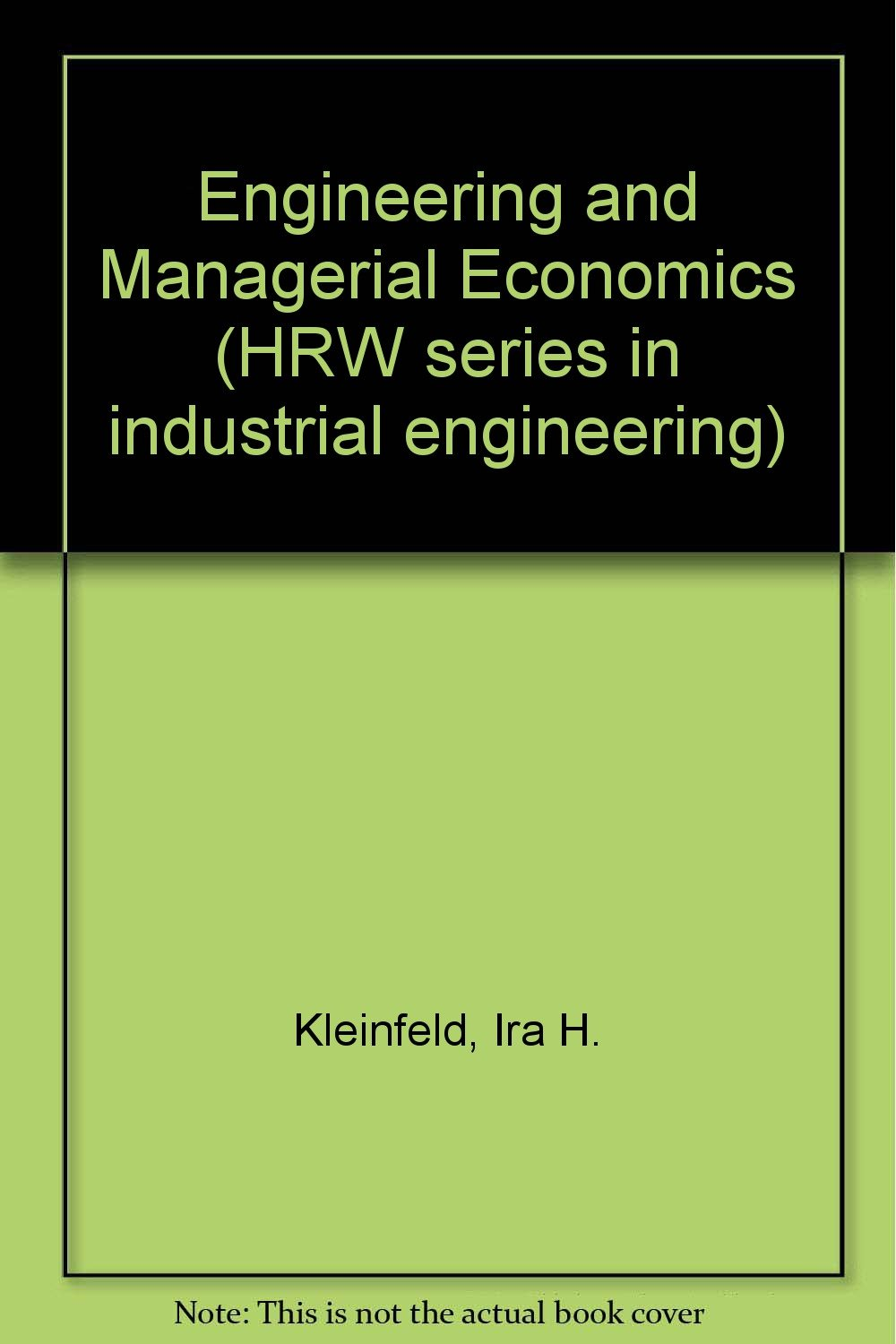 Engineering And Managerial Economics Book