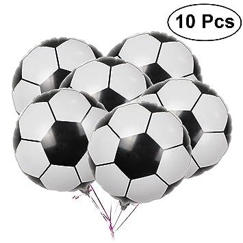 Bestoyard 18 Zoll Fussball Ballon Aluminiumfolie Fussball Luftballons Dekoration Fur Party Supplies 10 Stucke