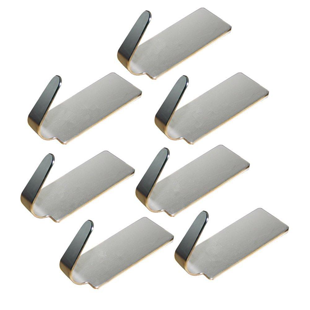 Da. WA 6 pcs ganchos sombrero ropa perchero de acero inoxidable gancho percha fuerte adhesivo adhesivo de pared para cuarto de bañ o Dormitorio Cocina Da.Wa