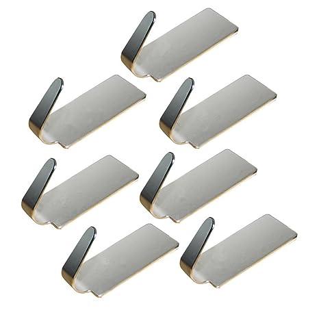 Da. WA 6 pcs ganchos sombrero ropa perchero de acero inoxidable gancho percha fuerte adhesivo adhesivo de pared para cuarto de baño Dormitorio Cocina