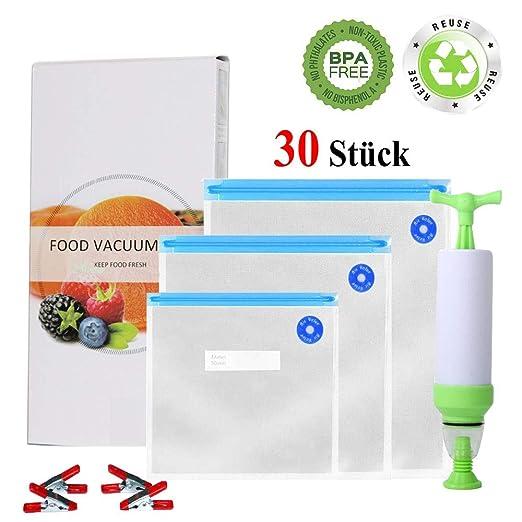 C-star - Bolsas de vacío para alimentos, 30 paquetes (3 ...