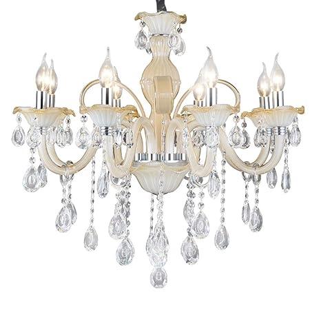 Araña De Cristal Vela Luces Colgantes Vidrio Lámparas De ...