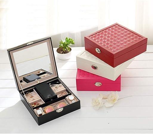 Sunrise-EU Caja organizadora de Maquillaje para Viaje, de Madera Maciza, para Guardar Joyas o Maquillaje, para niñas y Mujeres, Blanco, Talla única: Amazon.es: Hogar
