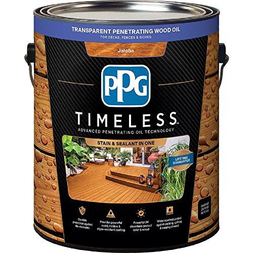 (PPG TIMELESS 1 gal. TPO-8 Jatoba Transparent Penetrating Wood Oil Exterior Stain Low VOC)