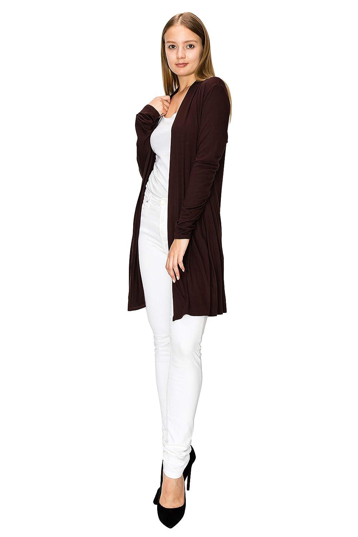 d62717b207d EttelLut Long Lightweight Wrap Cardigans Sweaters Open Front Regular Plus  Size MM7001