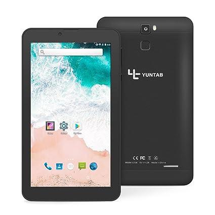 Tablet 7 Pulgadas Android 7.0 YUNTAB 3G Smartphone,CPU Quad-Core 1.3GHz,1 GB RAM + 16 GB ROM,Dual SIM Dual Cámara,Pantalla táctil IPS, WiFi ...