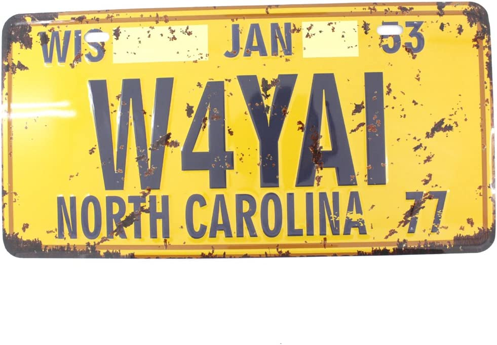 6x12 Inches Vintage Feel Metal Tin Sign Plaque for Home,Bathroom and Bar Wall Decor Car Vehicle License Plate Souvenir (North Carolina 77)