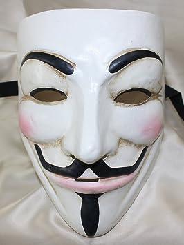 Auténtico Blanco Lujo Classic V para Vendetta Cara Completa de máscara veneciana