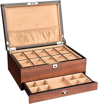 WCX Porta Relojes Y JoyasOrganizadores Caja Joyero Organizador Organizadora De Relojes Cajas Relojes Madera con 10 Ranuras para Hombres O Mujeres Gran Opción De Regalo (Color : A-30x21.7x13cm): Amazon.es: Relojes