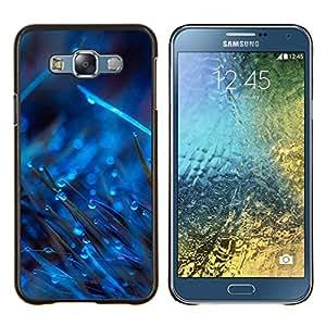 """Be-Star Único Patrón Plástico Duro Fundas Cover Cubre Hard Case Cover Para Samsung Galaxy E7 / SM-E700 ( Gotas Azules En Hierba"""" )"""
