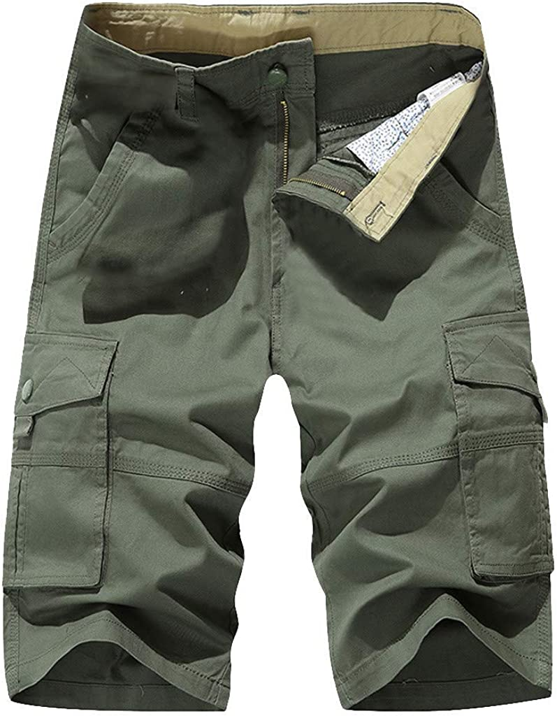 Sports Pants Gym Cargo Beach Shorts Fashion Mens Casual Pure Color Pocket Overalls Wind Overalls Shorts