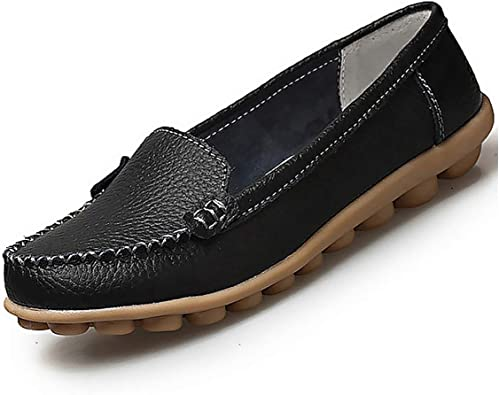 Leather Shoes Woman Soft Boat Shoes