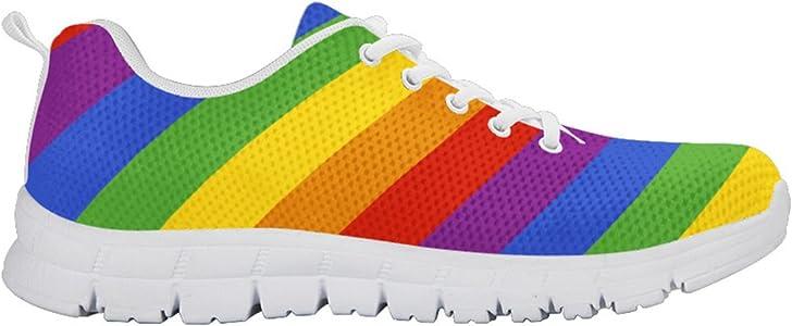0ddd41f01daf Gay Pride Shoes for Women Rainbow Sneakers. Printed Kicks ...