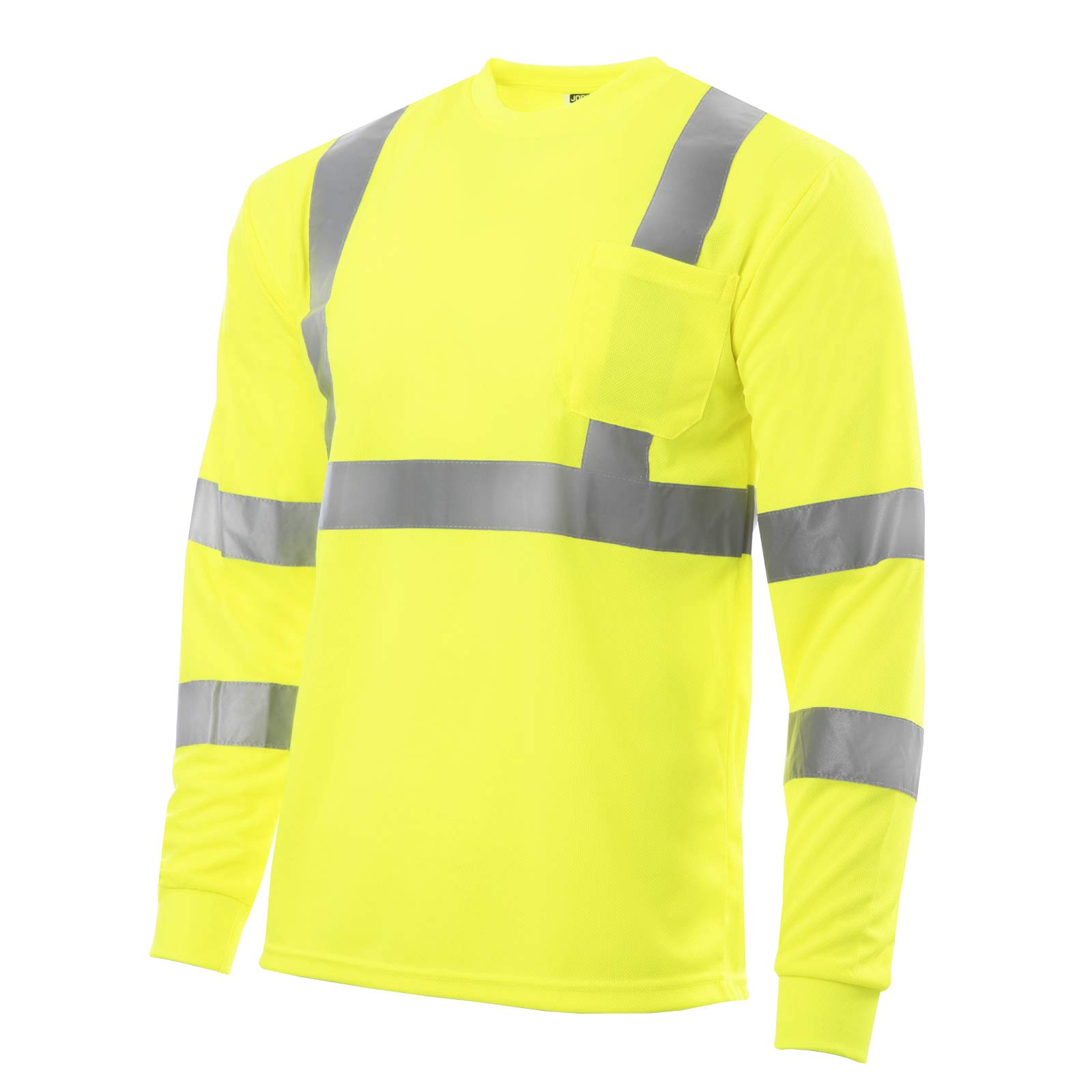 JORESTECH Safety T Shirt Reflective High Visibility Long Sleeve Yellow/Lime ANSI Class 3 Level 2 Type R TS-02 (L) by JORESTECH
