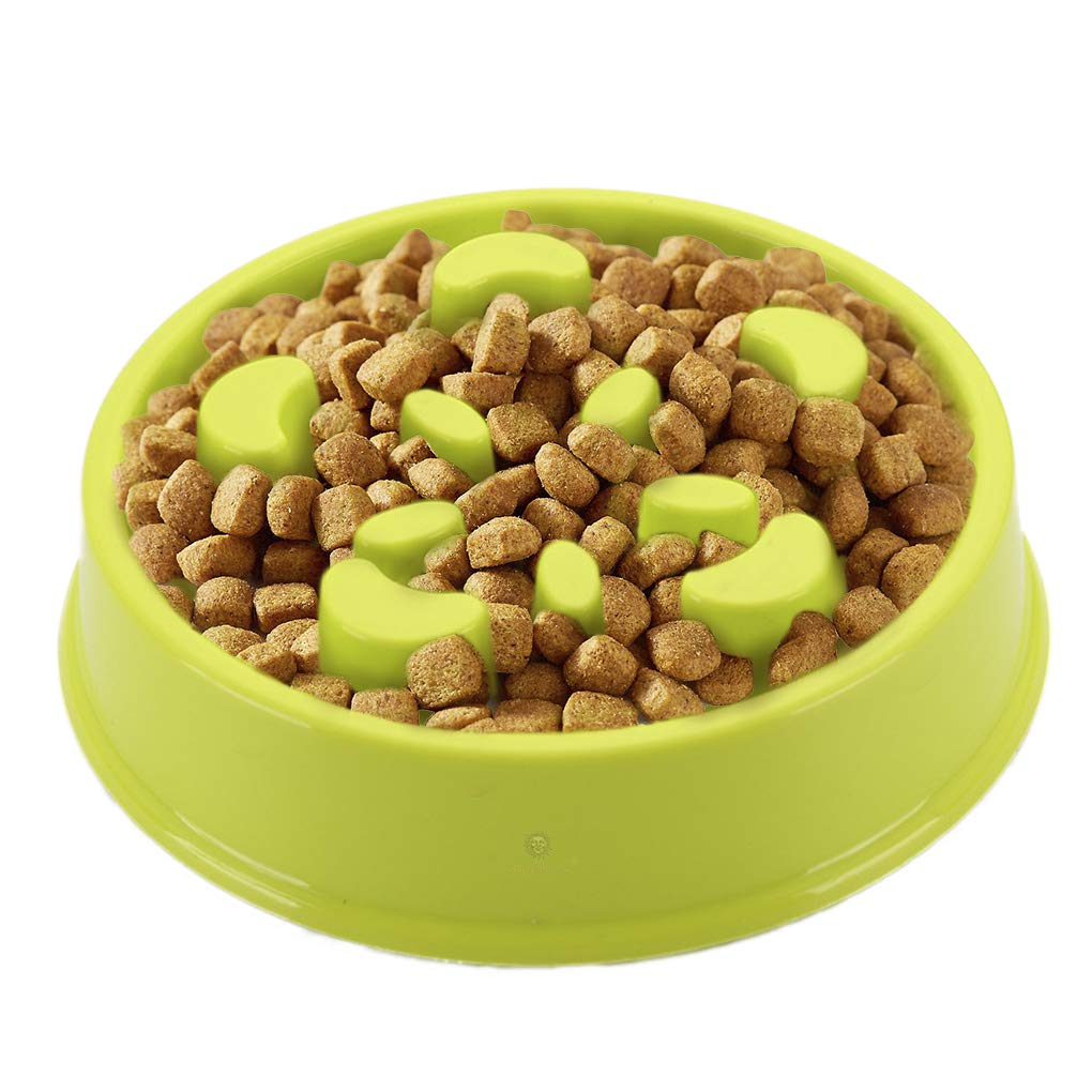 Curbs Appetite PVC and Phthalate Toxic Materials Free from BPA Prevents Indigestion Vomiting Bloating Slow Eating Slow Dog Feed Bowl -Promotes Interactive