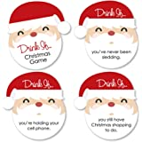 Big Dot of Happiness Drink If Game - Jolly Santa Claus - Christmas Party Game - 24 Count
