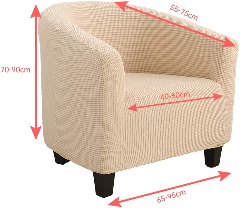 Jacquard Housse de Canap/é Tub Chair Extensible Rev/êtement de Canap/é Hoomall Housse de Fauteuil Chesterfield