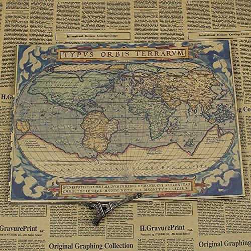 Ancient map Navigation World Retro Nostalgic Kraft Decorative ...
