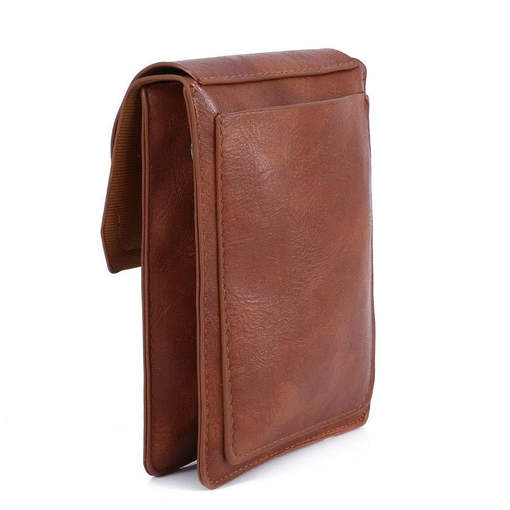 TENXITER Women Hollow Texture Small Crossbody Bags Cell Phone Purse Wallet for Girl (Brown)