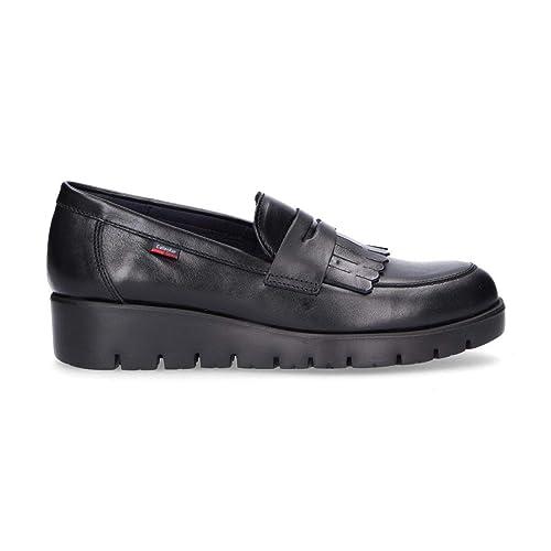 Callaghan Mujer 89846BLACK Negro Cuero Mocasín: Amazon.es: Zapatos y complementos