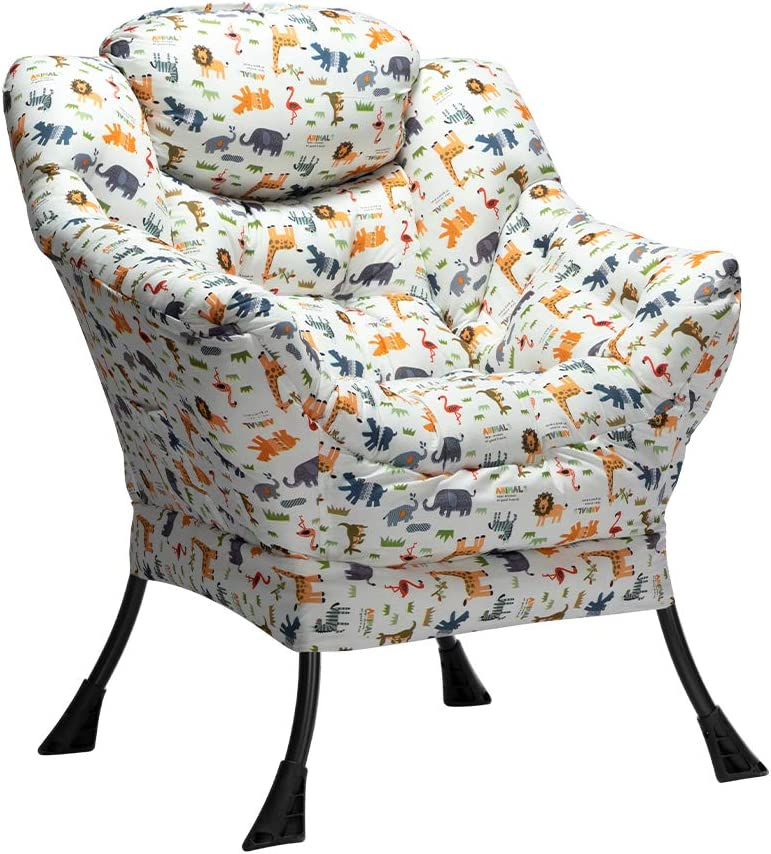HollyHOME Modern Fabric Lazy Chair