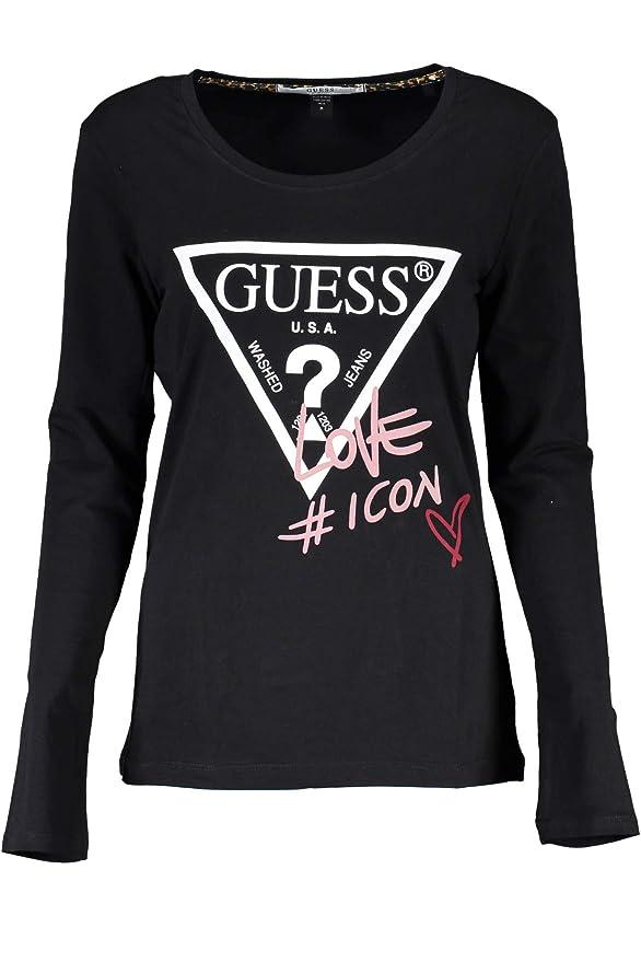 Guess Jeans T Shirt Maniche Lunghe Donna+[O94I11J1311]+[Nero