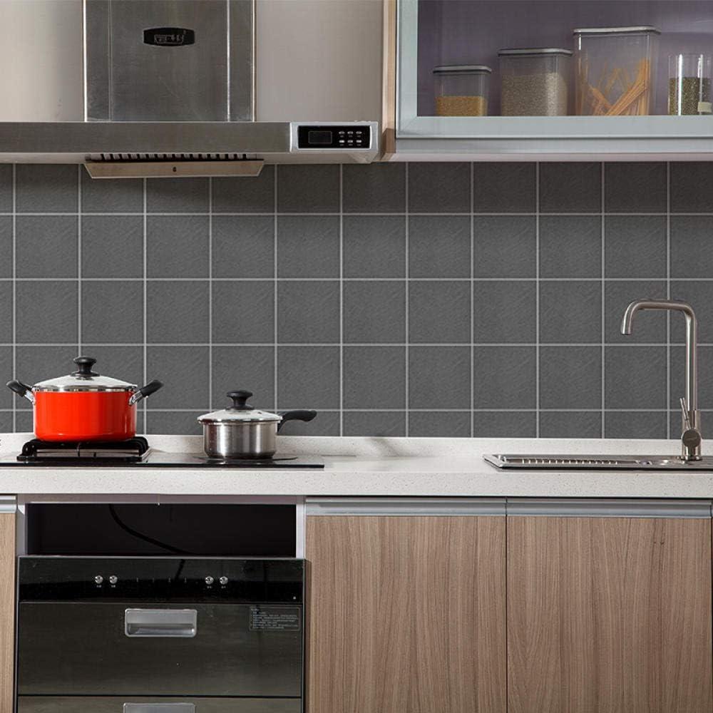 Papel pintado a cuadros a prueba de aceite de cocina Etiqueta impermeable de alta temperatura Etiqueta de pared de azulejo de imitación impermeable @ F 60cm * 90cm: Amazon.es: Bricolaje y herramientas