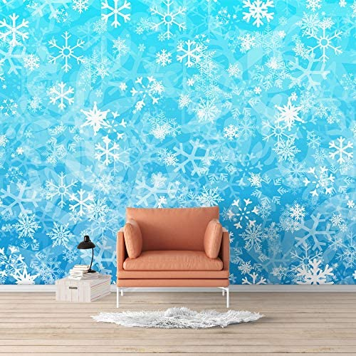 Wall Mural Beautiful Snowflake Floral Photo Removable